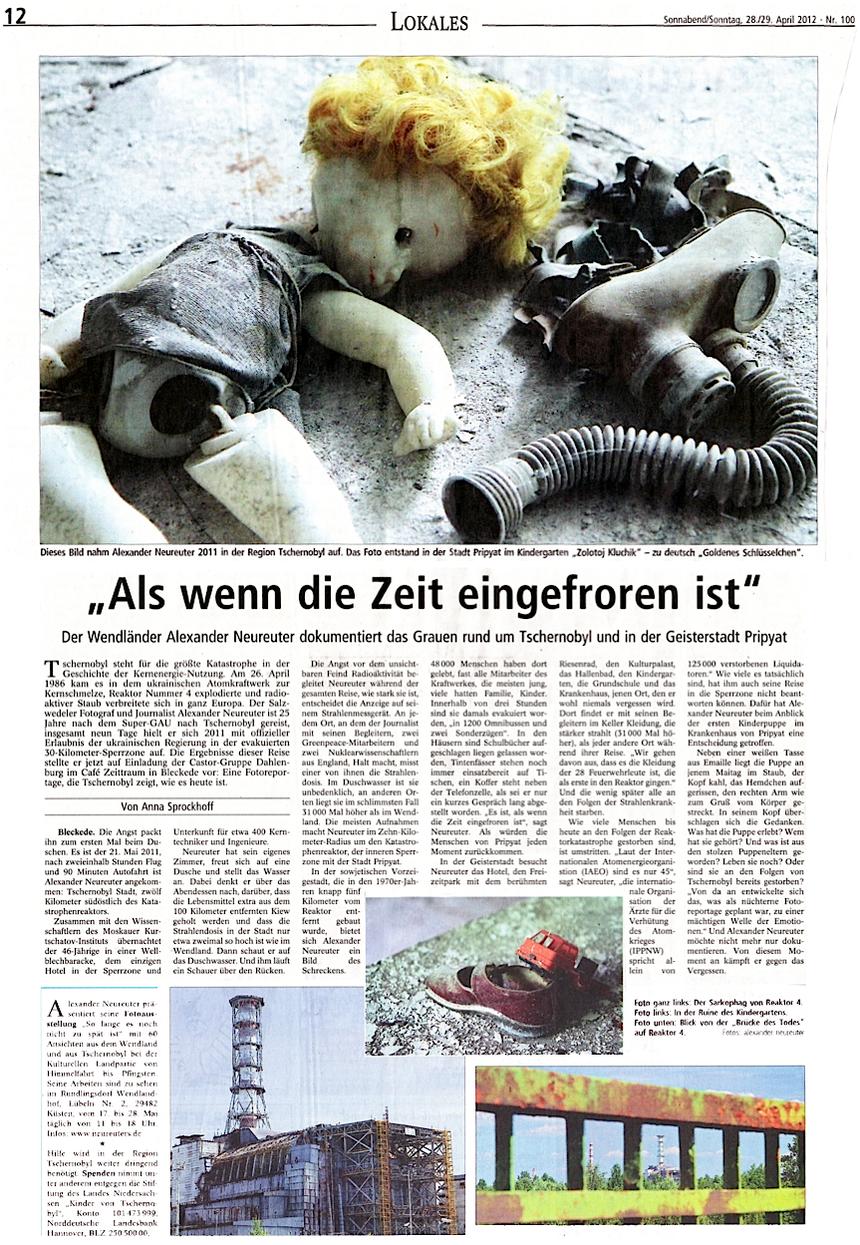 """aus der """"Landeszeitung"""" (Lüneburg) vom 28. April 2012"""