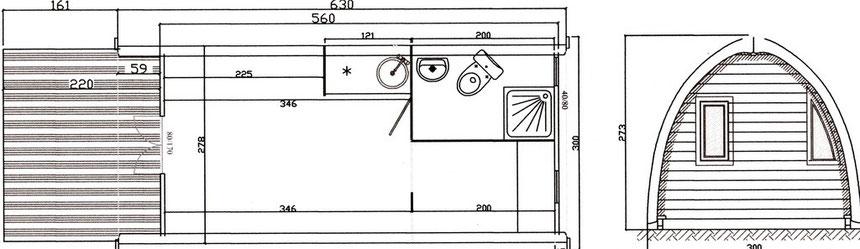 plan mobil home Megapod XL