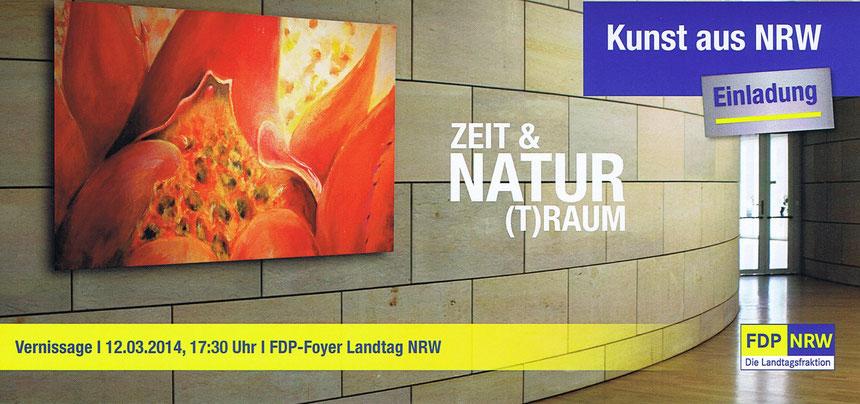 Kunst, Ausstellung, Zeit & Natur (T)Raum, Landtag, Annette Palder, Künstlerin, tOG, take OFF GALLERY, NRW,