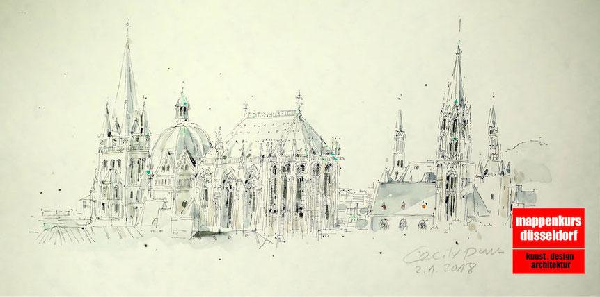 Mappenkurs Aachen, Mappenvorbereitungskurs in Aachen Architekturstudium Aachen