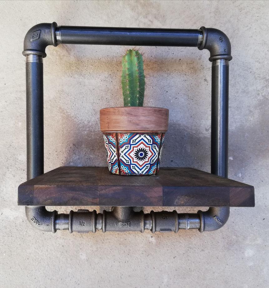 Vintage Schwebendes 3D Wandpaneel als Bilderrahmen Wandablage Industrial Style Display Hängeregal Schweberegal