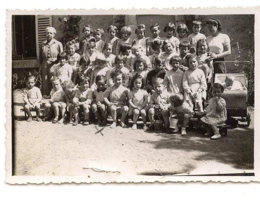 Ecole maternelle de la rue Haute - Classe de Mlle Saint-Andéol - Prêt Louis Labaille - 1941