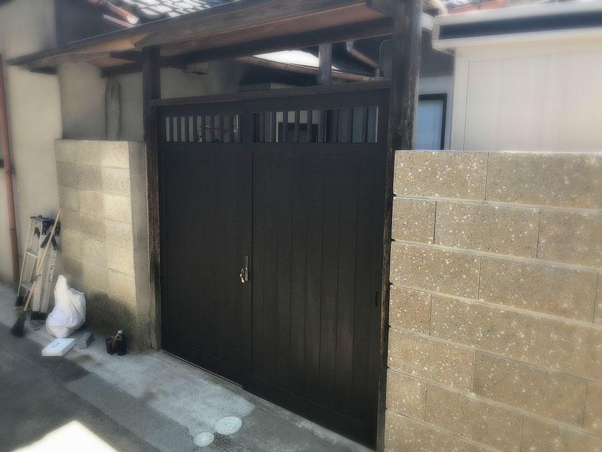 木製門扉交換