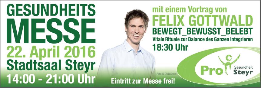 Banner: Gesundheitsmesse Pro Gesundheit Steyr