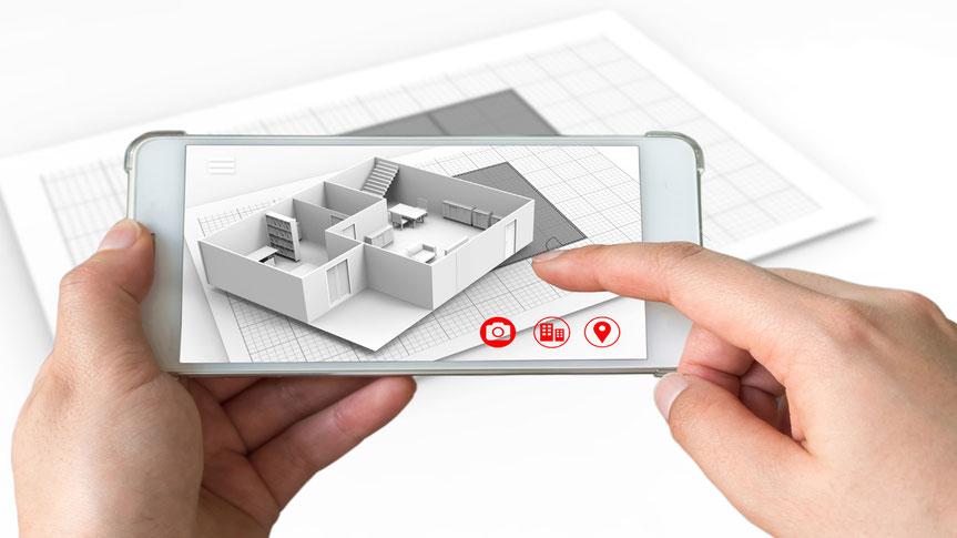Verständliche AR Produktvisualisierung mit einen Handy