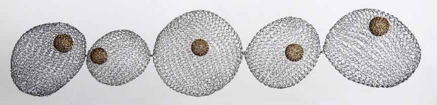 Fil de fer / laiton - longueur: 130 cm (atelier)