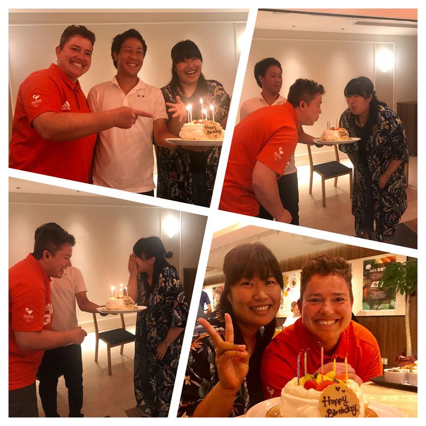 Geburtstagskuchen für Yokiko und mich - hab mich total gefreut!!