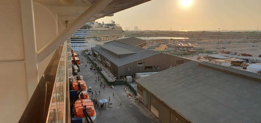 Kreuzfahrthafen in Abu Dhabi