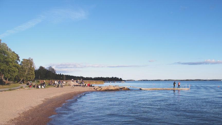 bigousteppes suède plage mer bleu