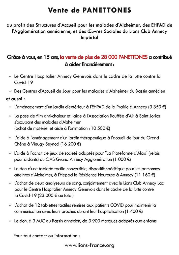 VENTE DE PANETTONES NOEL 2020