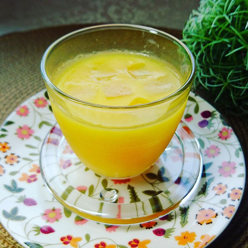 ナタデココ入りオレンジ100%ゼリー