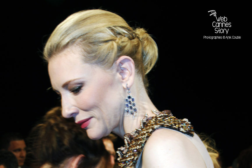 Cate Blanchett, lors de la projection  de « Dragon  2 », réalisé par Dean DeBlois - Festival de Cannes 2014 - Photo © Anik COUBLE