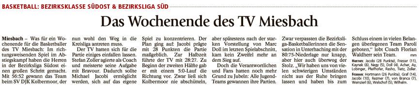 Bericht im Miesbacher Merkur am 13.3.2018 - Zum Vergrößern klicken