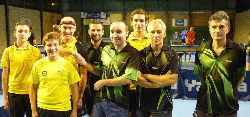 Couzeix 3 contre EATT 3 : Lucas G, Romain L, Philippe D et Florian C.
