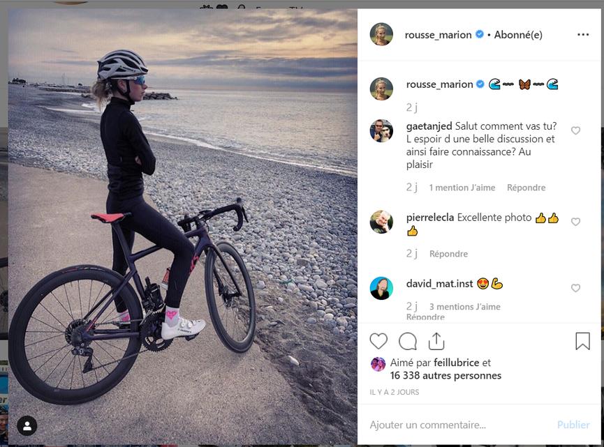 Marion Rousse - compte Instagram - octobre 2019