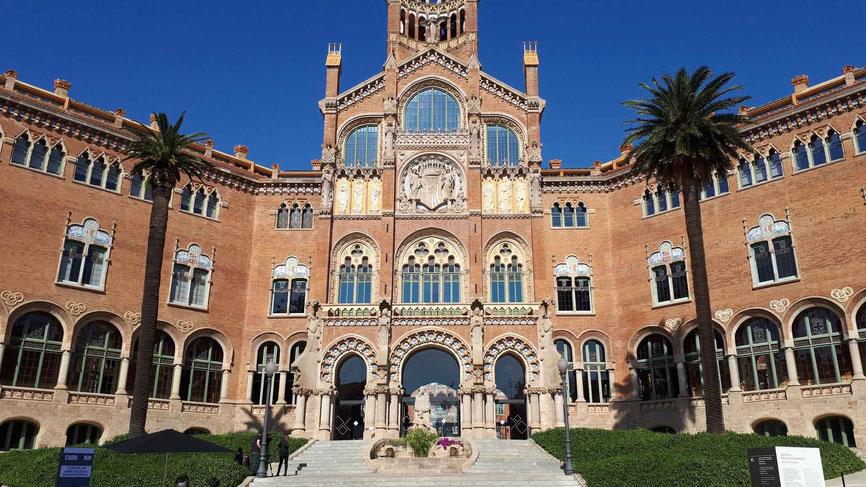 Eingang zum Hospital Sant Pau