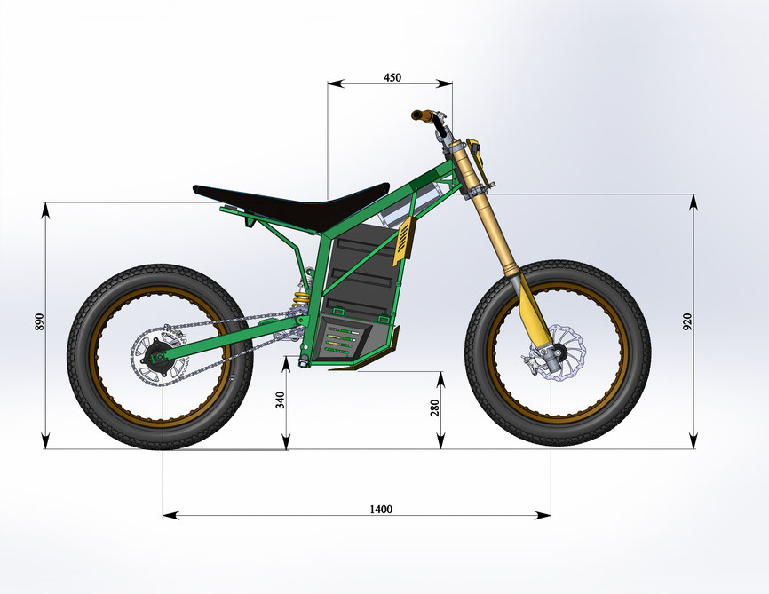 FurorBikes frame for dirt bike with BLDC motor - Endless Sphere