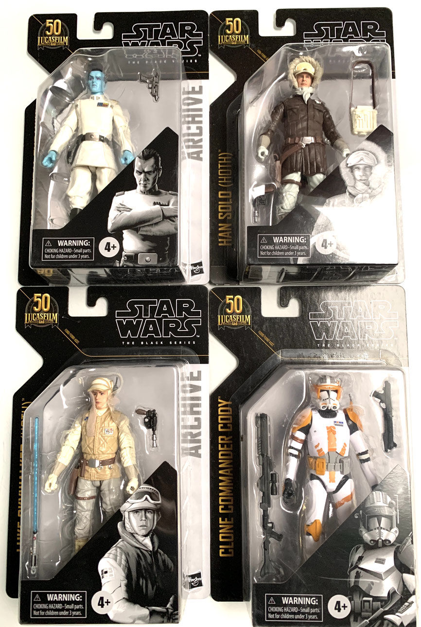 Star Wars Black Series Archive Actionfiguren 15cm 2021 50th Anniversary Wave 1 komplett 4xFiguren Hasbro