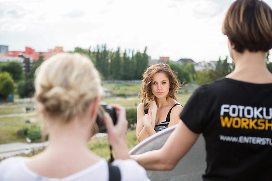 Portrait Fotokurs Teilnehmer Model