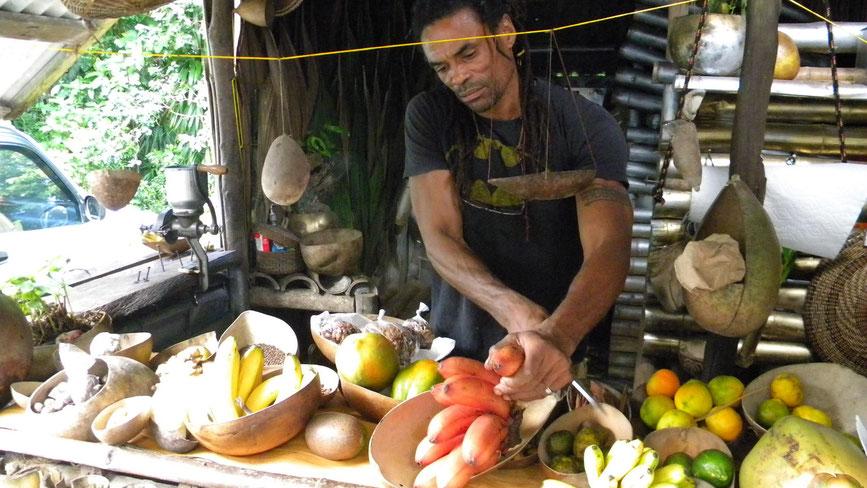 Exotisches Obst und Gewürze
