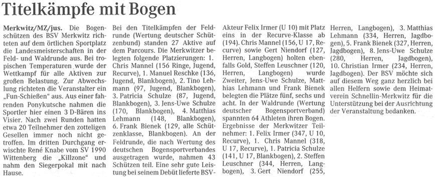 Artikel - LM Feld/ Wald 2005 in Merkwitz