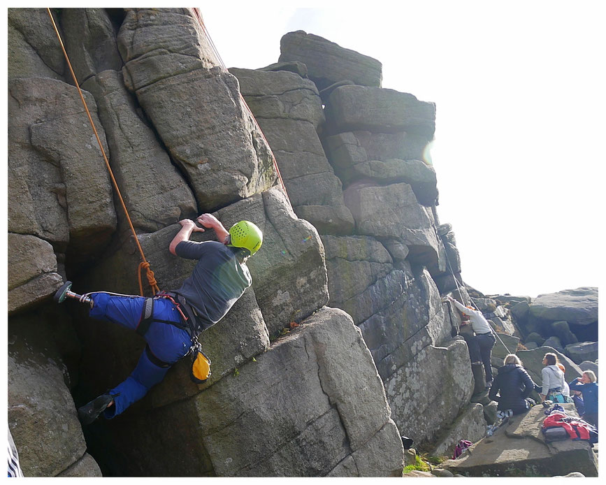 Having a blast at Burbage North in the Peak District