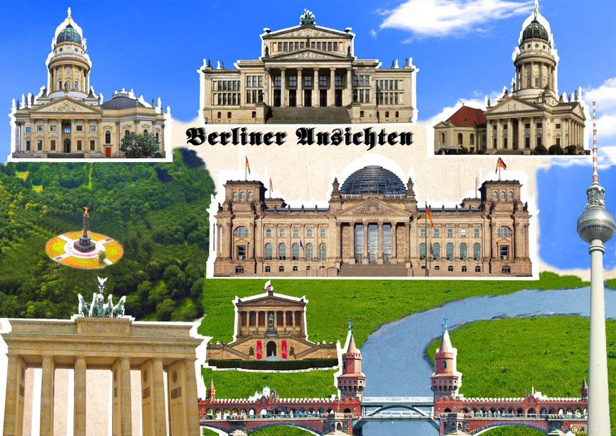 Deutscher Dom - Schauspielhaus - Französischer Dom - Siegessäule - Reichstag - Brandenburger Tor - Oberbaum Brücke - Fernsehturm