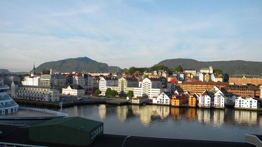 Blick vom Schiff am Skoltegrunnskaien