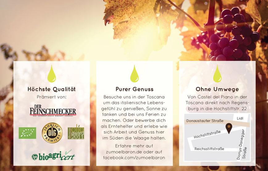 Der Feinschmecker, DLG, EU Bio Siegel, Olio Award, Purer Genuss