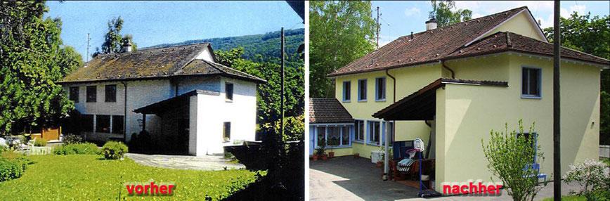 Hof Wyler - vor und nach der Sanierung