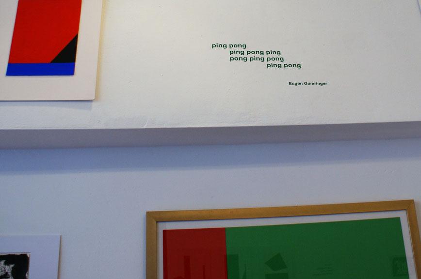 Eugen Gomringer in der Galerie SEHR