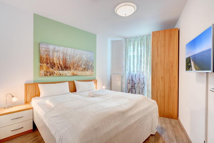Residenz am Balmer See, Haus B mit Appartement 45, Ferienwohnung GolfundMeer, Schlafzimmer,  Photo © Tomasz Zając 05.2019