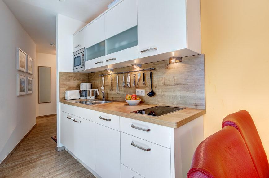 Residenz am Balmer See, Haus B mit Appartement 45, Ferienwohnung GolfundMeer, Einbauküche,  Photo © Tomasz Zając