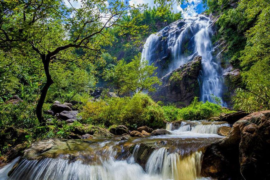 Khlong Lano krioklys Khlong Lano nacionaliniame parke Tailande