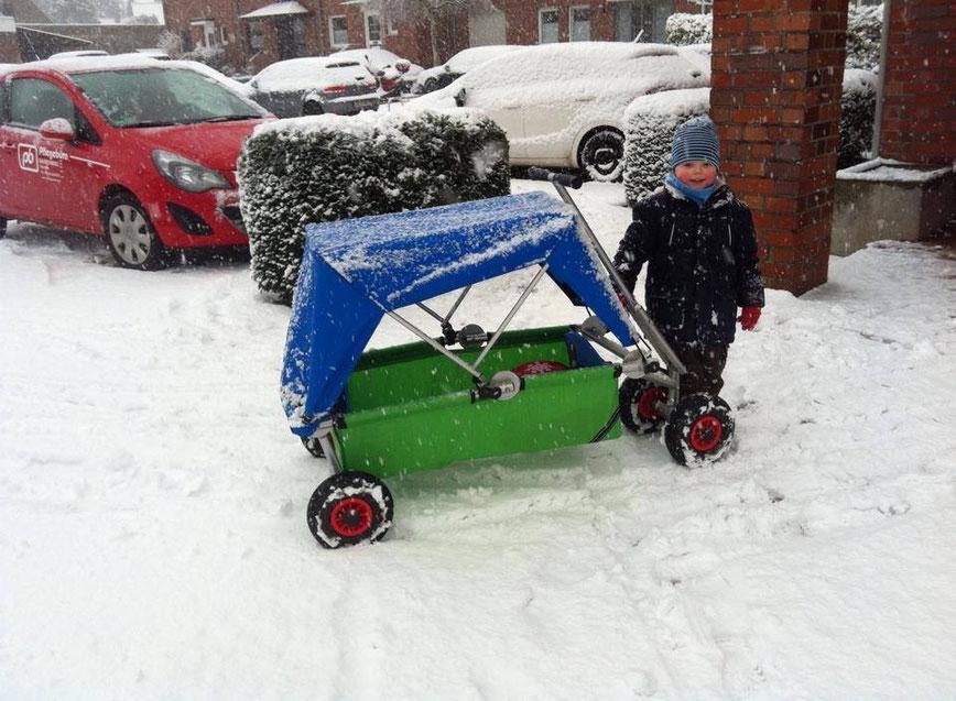 mit ulfBo auch im Schnee unterwegs