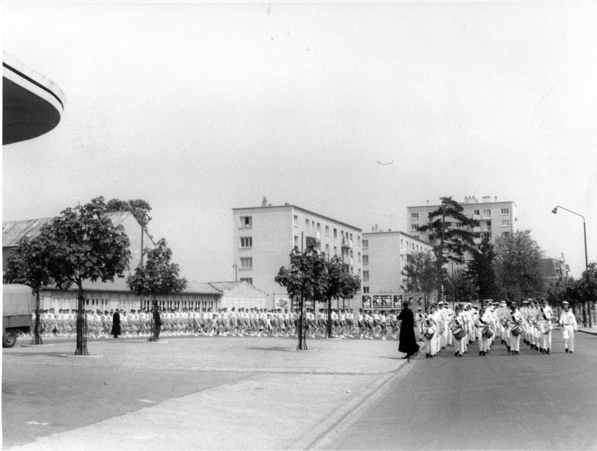 CAEN départ de l'Institut Lemonnier  1956