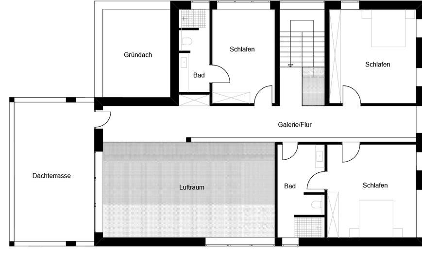 Grundriss Obergeschoss