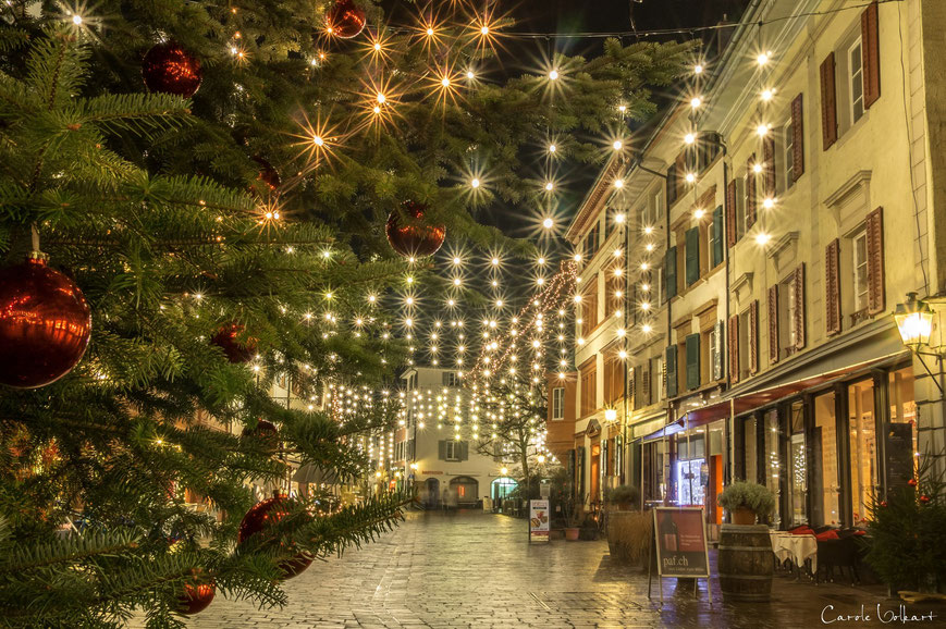 Weihnachtsbeleuchtung, Weihnachtsbaum, Marktgasse, Kupfergasse, Rheinfelden