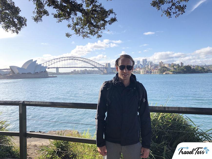 Uitzichtpunt op de haven van Sydney