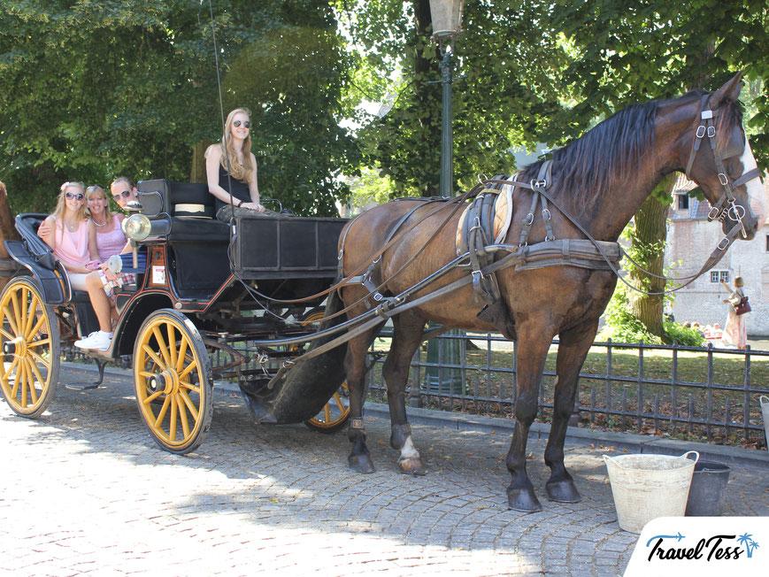 Ritje met de paardenkoets door Brugge