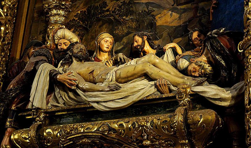 Photographie, Espagne, Andalousie, Séville, dolorisme, sculpture sur bois, Pedro Roldán, Christ, église de l'hôpital de la Charité, art, Mathieu Guillochon.
