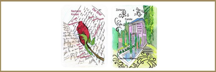 Brief und Hauskarte Lenormand