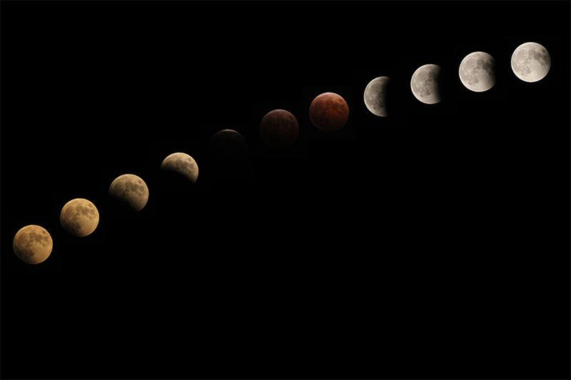 いろいろな月(皆既月食など)
