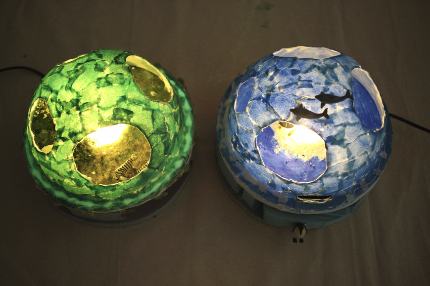 紙 ライト 手作り照明