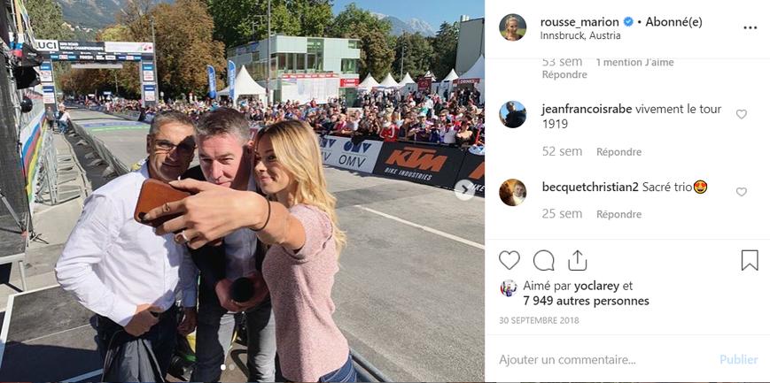 Marion Rousse - Instagram - selfie