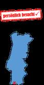 Portugalkarte Algarve Mitte