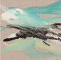 Abstrakte Malerei aus der Serie Volcanism-Floating