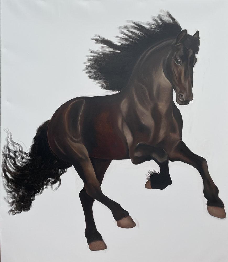 Cinderella, Oil on Canvas, 200 x 170 cm, 2021.