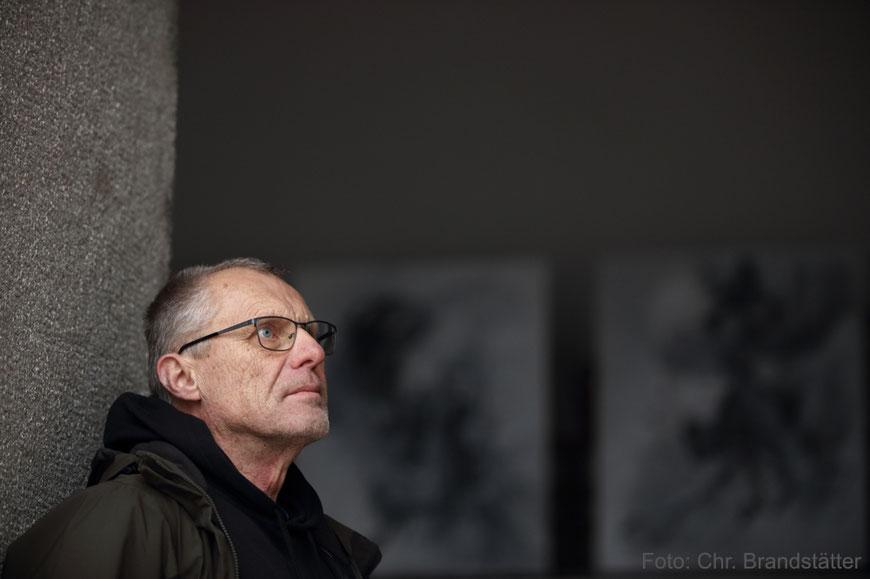 Kurt Kellner bei der Arbeit in seinem Atelier