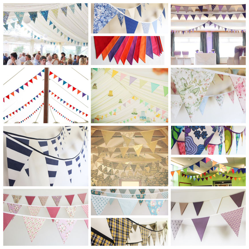 funky flags bunting wedding bunting decor fabric flags marquee hotel cornwall cornish bride to be nautical rustic vintage decor purple pink dusky pastels tartan rainbow cadbury cute pretty country weddding getting married in cornwall hire